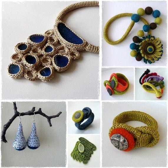 like #crochet #jewellery idea