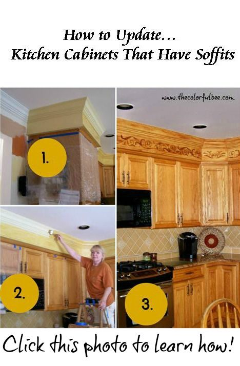 Learn #how to change #kitchen #cabinets with #soffits at The ... on ideas for kitchen painting, ideas for kitchen showers, ideas for kitchen lighting, ideas for kitchen doors, ideas for kitchen walls, ideas for kitchen floors, ideas for kitchen corners, ideas for kitchen fireplaces, ideas for kitchen ceilings, ideas for kitchen windows, ideas for kitchen room additions, ideas for kitchen beams, ideas for kitchen tile, ideas for kitchen cabinets, ideas for kitchen shelves, ideas for kitchen paint, ideas for kitchen tiling, ideas for kitchen appliances,