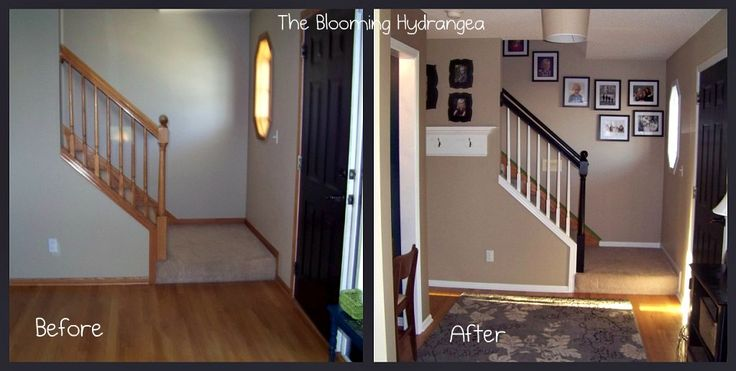 paint over stained wood trim before & after pictures | ... before and after so you can appreciate the beauty of the white trim