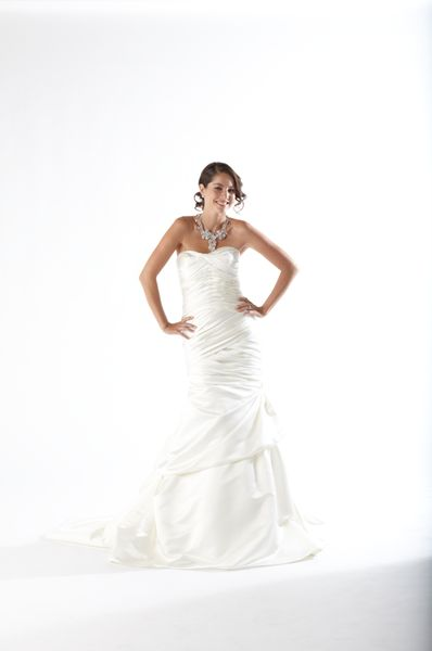 Kirstie Kelly Wedding Dress Satin Fit Flare Gown Bridal