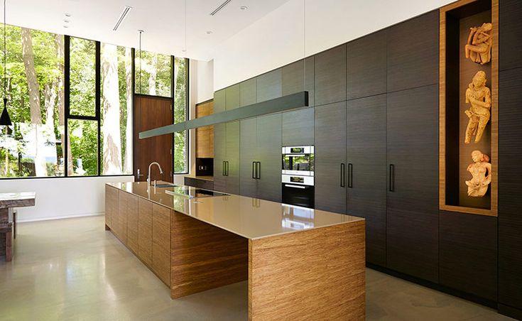 Kitchen Island Lighting Idea – Use One Long Light Instead Of Multiple Pendant Lights