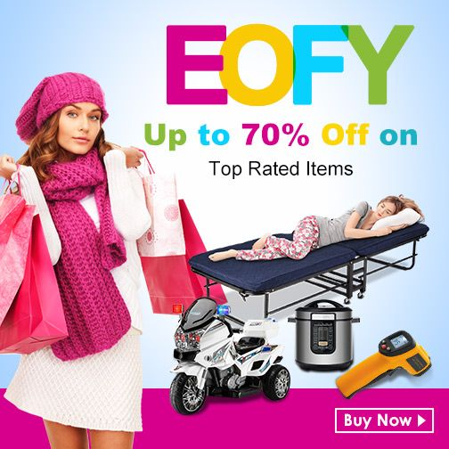 EOFY top rated items: up to 70% off.