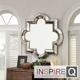 Nihoa Silver Casbah Octagon Accent Wall Mirror