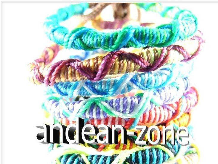 Lot 75 Handmade Twisted Surfer Friendship Bracelets Party Bag Fillers  -Stock UK