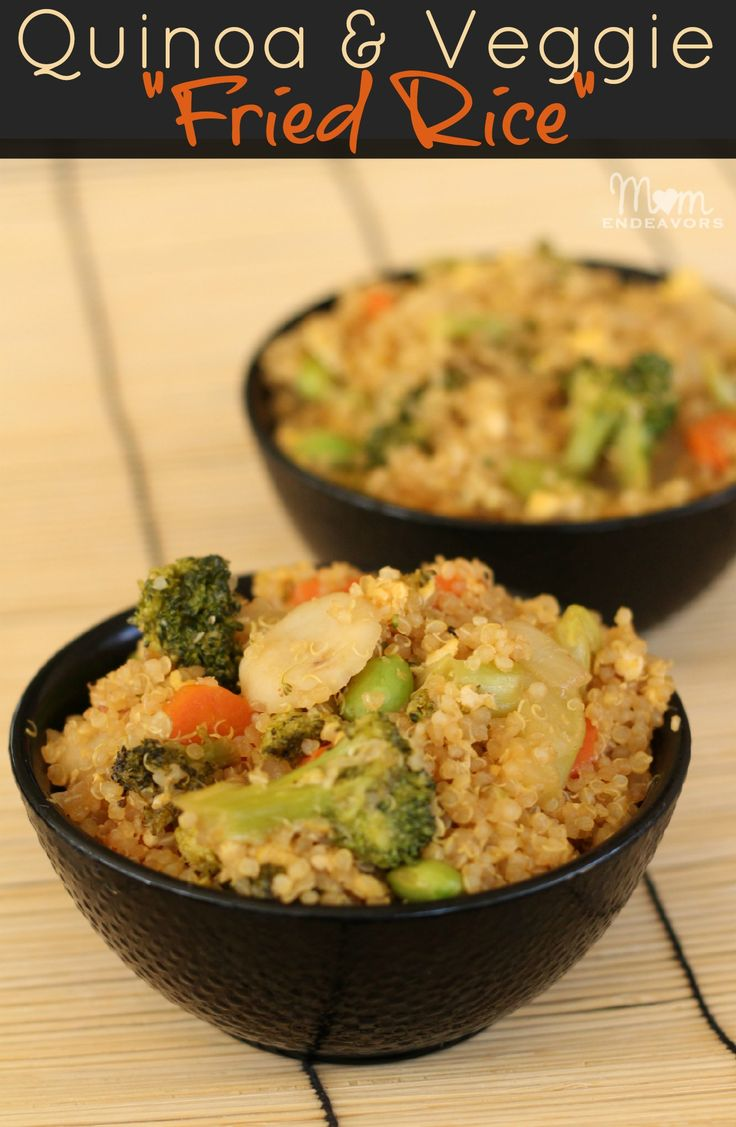 """Yum! Quinoa & Vegetable """"fried rice""""; easy to make & healthy! #recipes #glutenfree"""