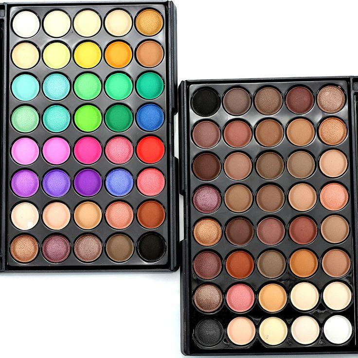 40 Colores Mate Naked Paleta de Sombra de ojos Profesional Belleza Duradera Maquillaje Sombras de Ojos Paleta de Sombra de Cosméticos Fijaron Tonos H20