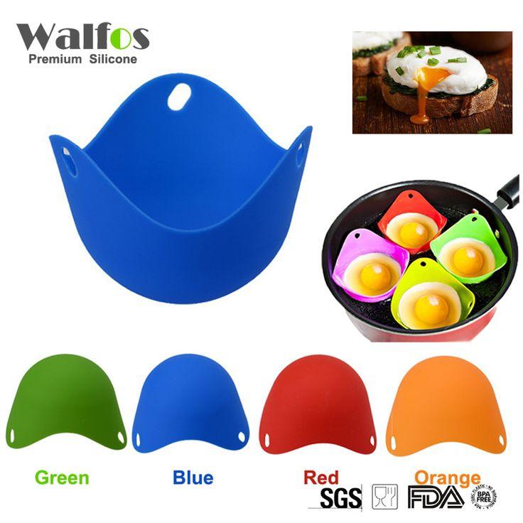 WALFOS Flexibe Silicone Egg Poacher Cook Poach Pods Kitchen Tool Baking Poached Cup
