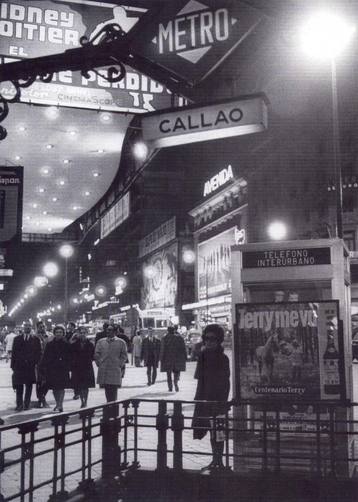 Callao nocturno. Años 70 Madrid
