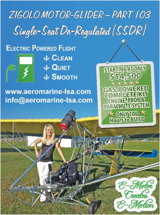 Zigolo MG - Aeromarine LSA, motor-glider, aeromarine, LSA, Zigolo, electric aircraft, amphibious aircraft