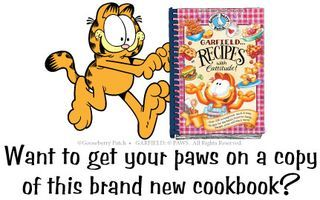 Lasagna Garfield Style, Go check out how to win an awesome Garfield inspired cookbook from Goose Berry Patch! Go here to Enter: http://gooseberrypatch.typepad.com/blog/2013/06/win-garfieldrecipes-with-cattitude.html#comment-6a010535fc1a27970c0192aac2e5f7970d
