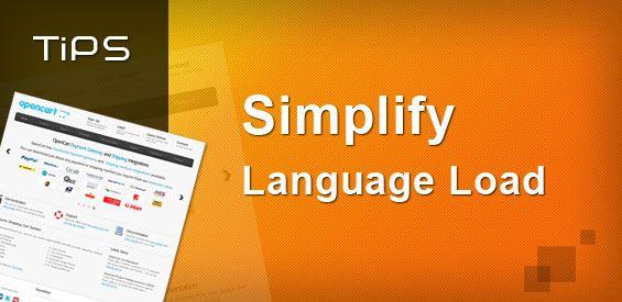 Simplify Language Load