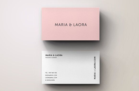 Pink Modern Business Card Template By Blank Studio On
