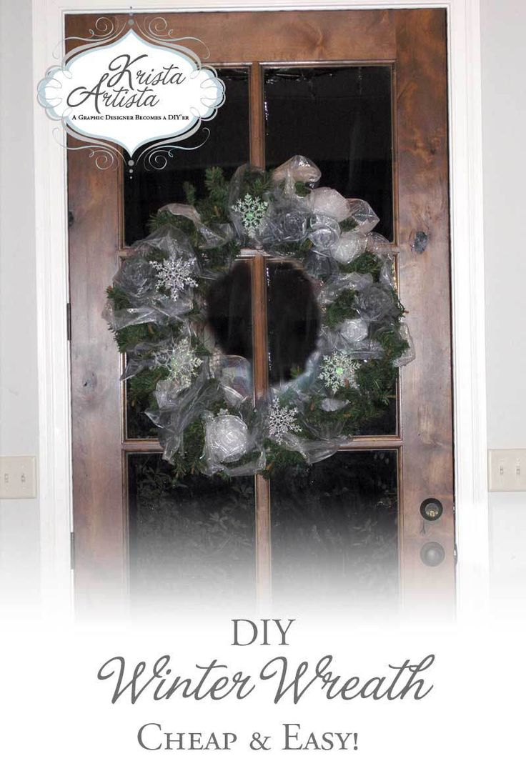 DIY Winter Wreath Tutorial. Very cheap and easy!