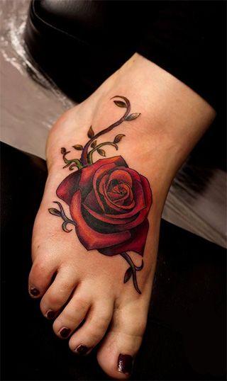 Tatuajes De Rosa En Los Pies Significadodetatuajes Tatuajes En