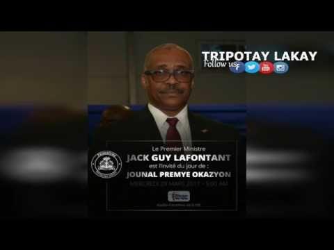 Haiti News - Premye Entèvyou PM Jack Guy Lafontan nan Radio Caraibes.