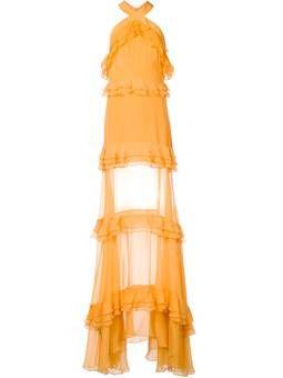 многоярусное платье с рюшами