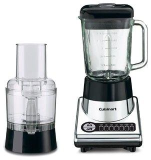 Cuisinart PowerBlend Duet Blender and Food Processor, Chrome and Black - contemporary - blenders and food processors - by Amazon