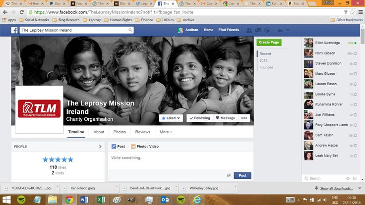 Please like our Facebook page: https://www.facebook.com/TheLeprosyMissionIreland  We appreciate all the support! :)