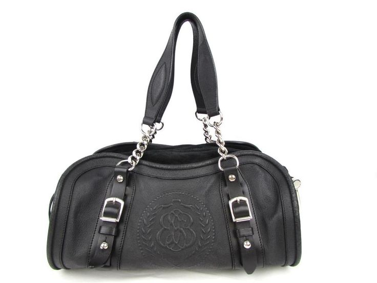 Authentic BALENCIAGA Handbag Shoulder Tote Bag Calfskin Leather Black #BALENCIAGA #Handbag