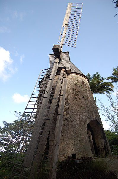 Moulin à vent de la distillerie Damoiseau, Le Moule, Guadeloupe