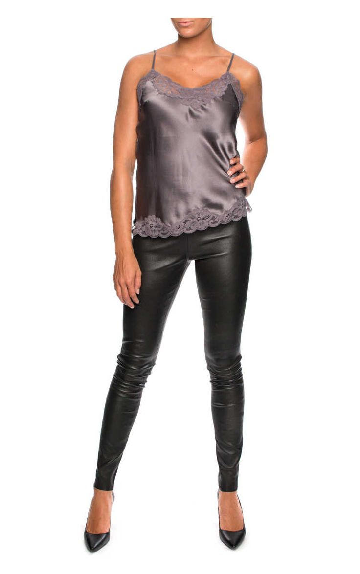 Läderbyxa Malene BLACK - By Malene Birger - Designers - Raglady