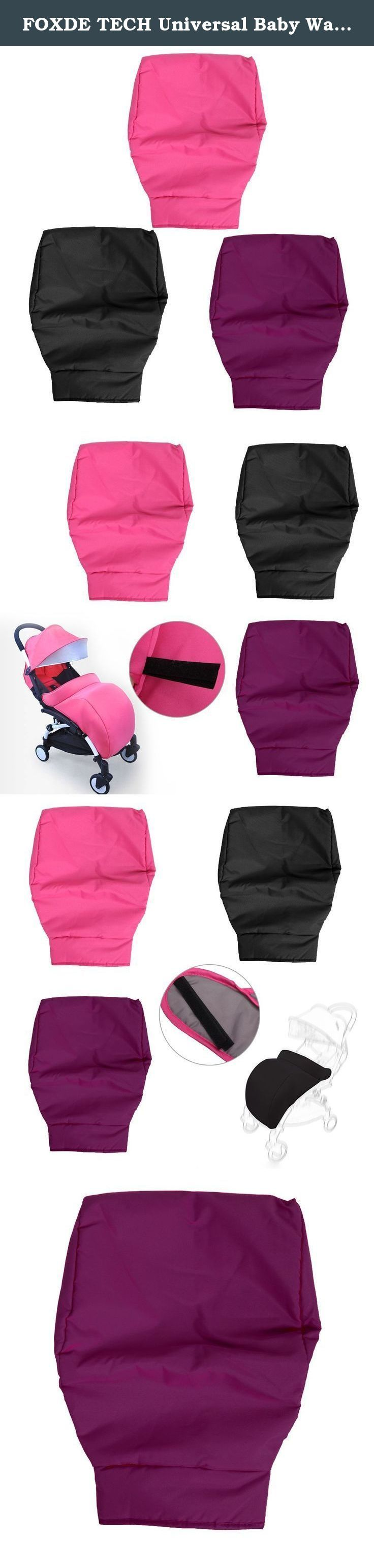 FOXDE TECH Universal Baby Warm Stroller Buggy Windshield Foot Cover Pushchair Pram FootMuff. Description: 100% brand new and high quality Features: A windproof, soft and warm To keep the baby's foot or leg warm and safe all winter Easy to install and remove Specifications: Materia:cotton cloth and warm 300D Size:60*40cm/23.6''*15.7'' Color: Black, Purple, Hot Pink Quantity: 1 pc Note: 1.Transition: 1cm=10mm=0.39inch 2.Please allow 0-1cm error due to manual measurement. pls make sure you…