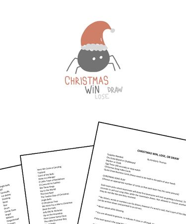 Christmas Win Lose Or Draw Activity Free Printable Game Class