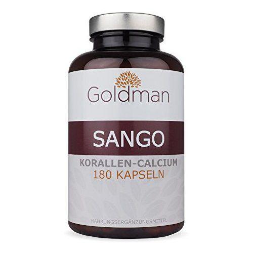 Goldman Sango Meereskoralle • 180 Kapseln für 3 Monate • Natürliches Kalzium aus Koralle • Kein Raubbau • Vegetarisch, laktosefrei, glutenfrei • Made in Germany