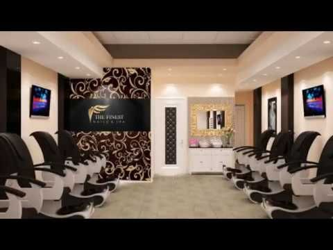 Nails Salon Interior Design Ideas   3D DESIGN, IFOSS TEAM