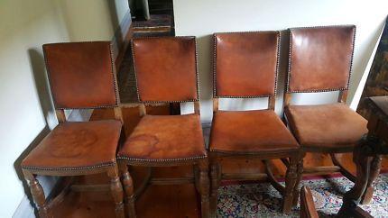 4 ENGLISH OAK DINING CHAIRS | Dining Chairs | Gumtree Australia Stonnington Area - South Yarra | 1133928507