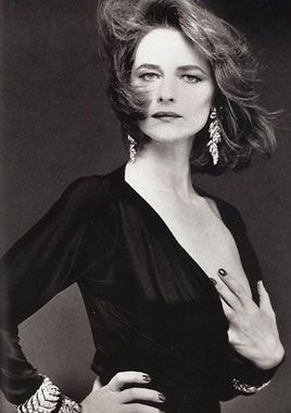 English actress Charlotte Rampling, has worked in English language as well as French and Italian cinema