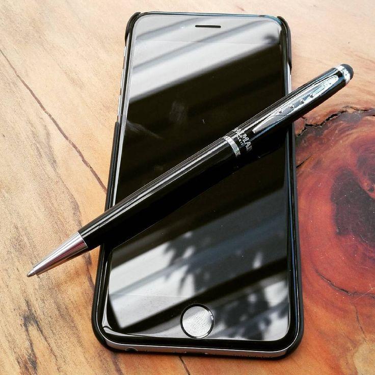 The elegant Balmain Paris stylus pen is an awesome office gift #balmain #brandedpens #brandedpromtionalgift #corporategiftssouthafrica #corporategift #marketinggifts #marketingproducts #promotionalgiftssouthafrica #promotionalgifts #southafrica #pen #styluspen