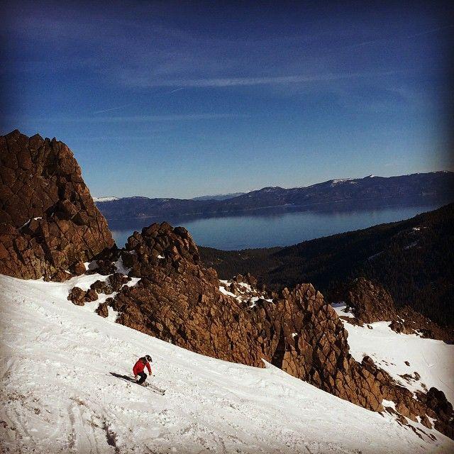 Alpine Meadows Lake Tahoe skiing, photo by Erin Thiem/ Outside Inn