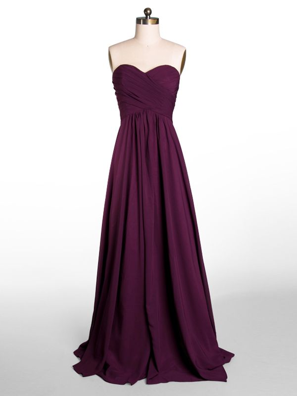 Long Sheer One Shoulder Eggplant Purple Bridesmaid Dress [TBQP246A] - $149.00 : Custom Made Wedding, Prom, Evening Dresses Online | Tulle & Chantilly