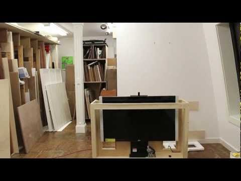 Tips on building a TV lift cabinet, and how to make bead molding by Jon Peters