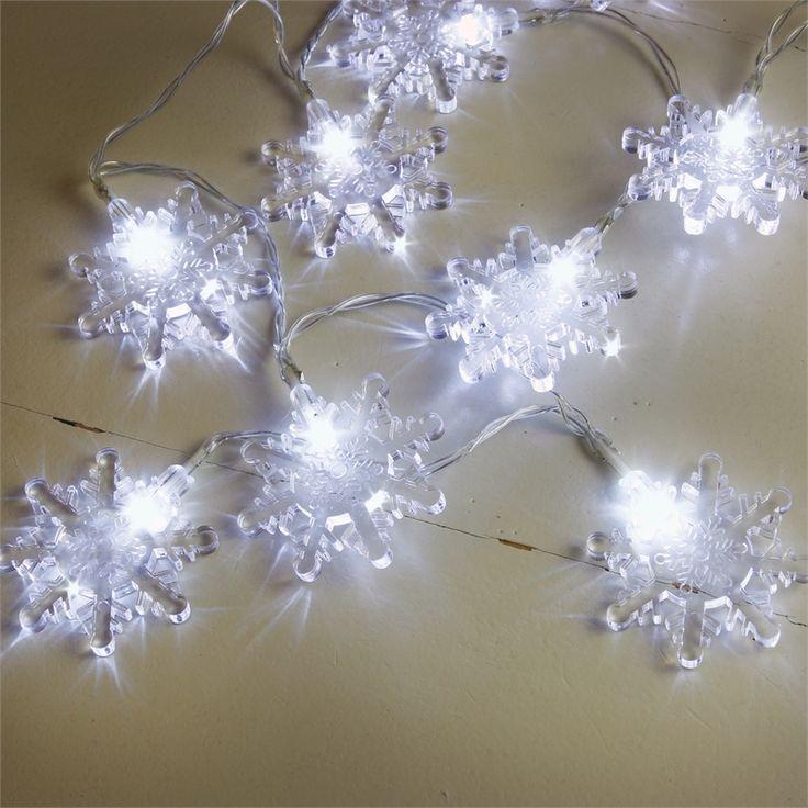 Lytworx 10 LED Festive Decor Battery Operated White Snowflake I/N 4351512   Bunnings Warehouse