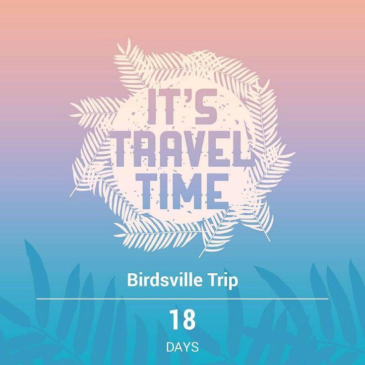 18 days! Cant wait :D #roadtrip #birdsville by laurenj94