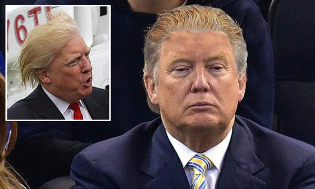 NEW YORK... Trump may get rid of his famous combover after becoming President | Daily Mail Online
