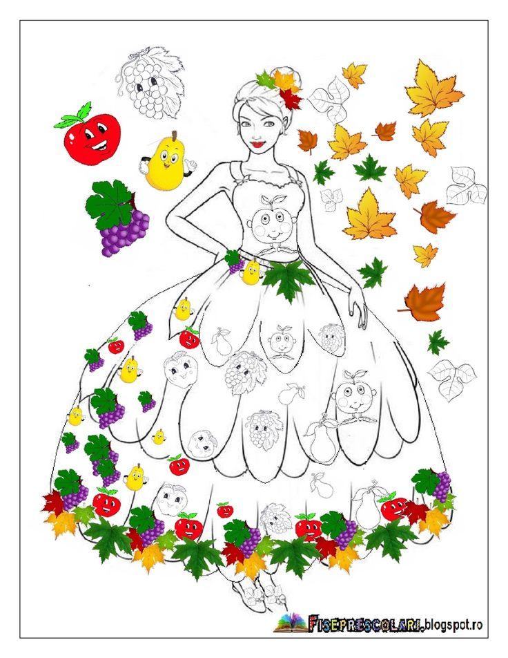 Planse cu ZANA TOAMNA - Imagini de colorat   Toamna este un anotimp asteptat de multi copii. Acest anotimp vine impreuna cu aspectele lui fi...