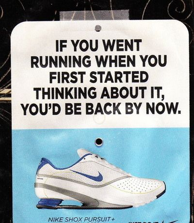 Had you gone running...