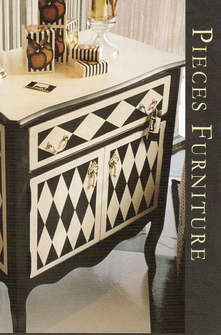 Painting furniture designs - Black And White Geometry By Pieces Hand Painted Furniture Custommade Com