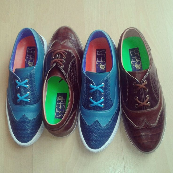 Leather oxfords. Custom made.