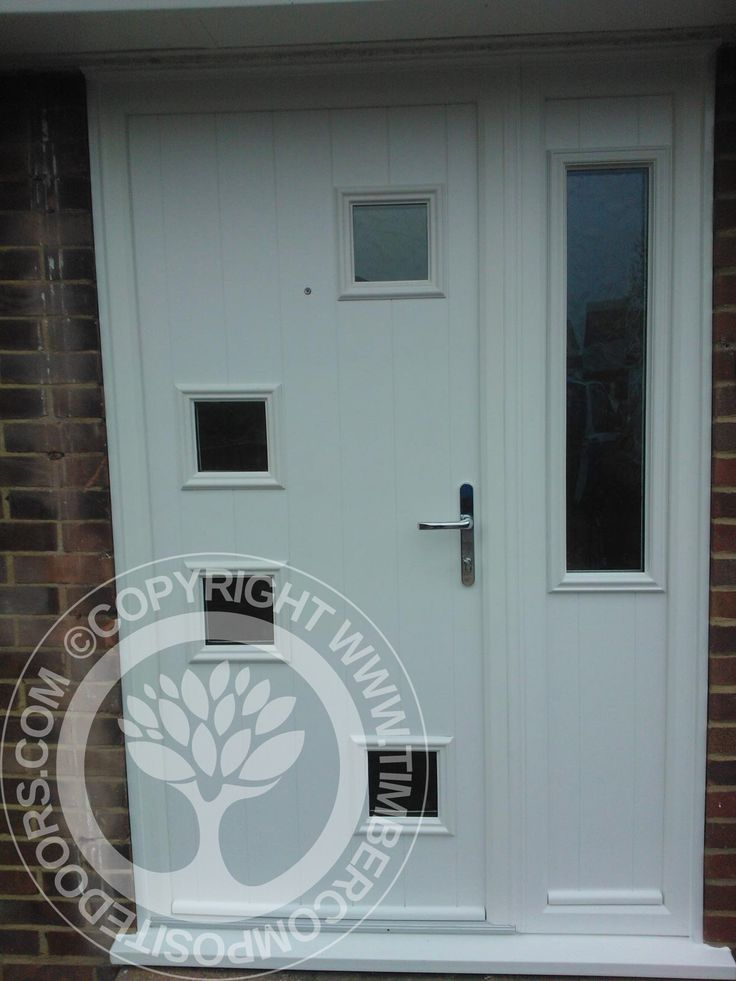 White Solidor Modena Italia Collection Composite Door, with matching side panel  #solidor #timbercompositedoors #compositedoors