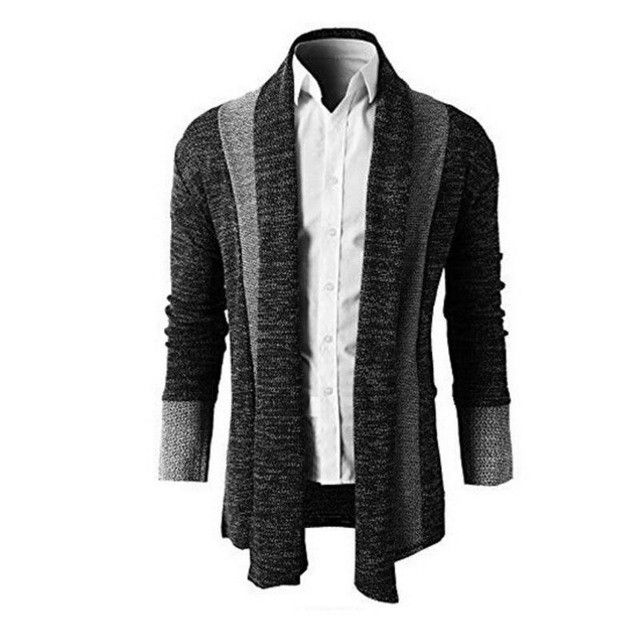 Mens Thick Wool Cardigan Men's High-end Fashion Personality Knitwear Sweater Man Sweater Winter Matching Christmas Sweaters