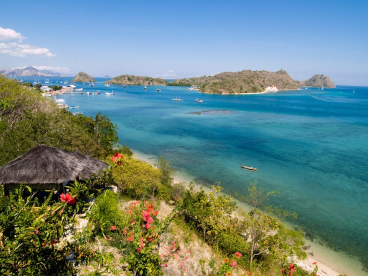 Overlooking Labuanbajo Harbour on Flores Island, Indonesia