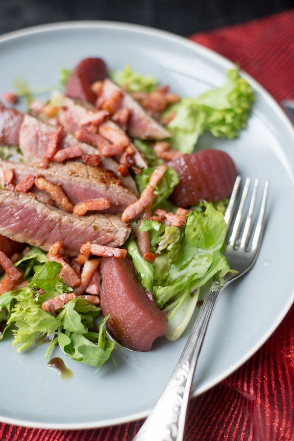Voorgerecht: Stoofperensalade met biefstuk - OhMyFoodness