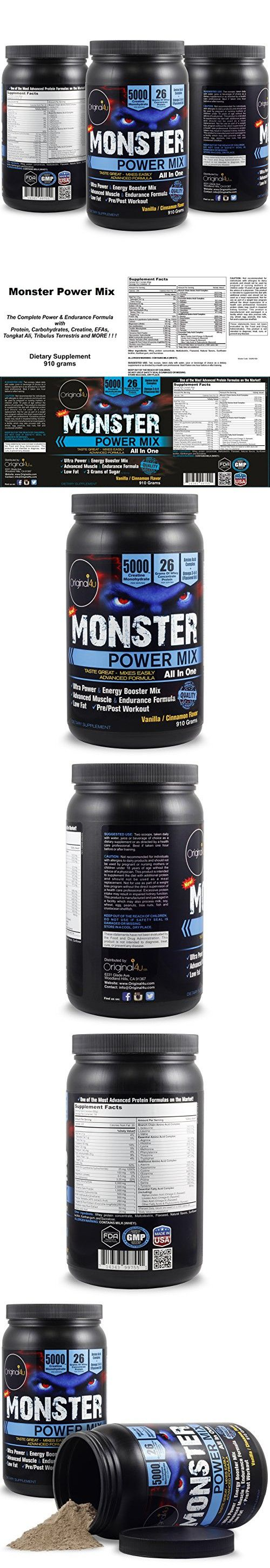 POWER MIX (ALL IN ONE) - The Complete Energy ,Power & Endurance Formula with Protein, Carbohydrates, Creatine,Amino Acids,