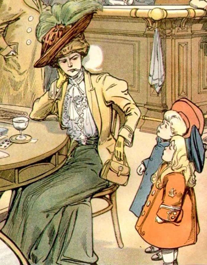 Чем опасны для общества права женщин: открытки начала 20-го века — Живой Журнал