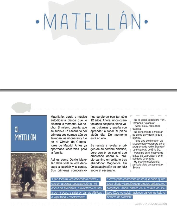 Muestra del dossier de @Davile Matellán -