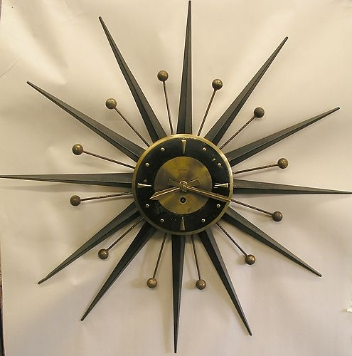 Mid century modern clock the image kid for Mid modern period